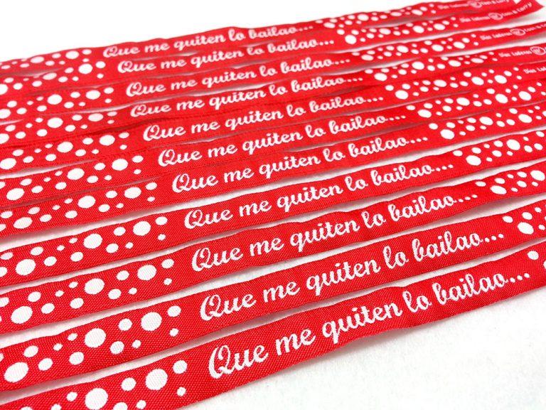 Pulseras-Rojas-Pulseras-deTela-Personalizadas-Pulseras-con-Frases-QUE-ME-QUITEN-LO-BAILAO
