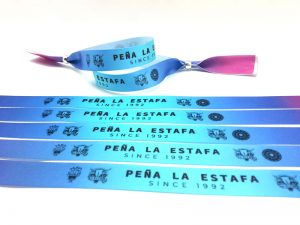 Pulseras-de-Tela-Personalizadas-Baratas--Pulseras-Para-Eventos-PEÑA-LA-ESTAFA