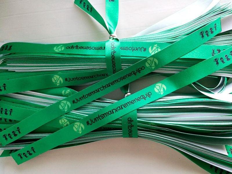 Pulseras-Verdes-Pulseras-de-Tela-Personalizadas-Pulseras-Sublimadas-JUNTOSMARCHAREMOSENEQUIPO