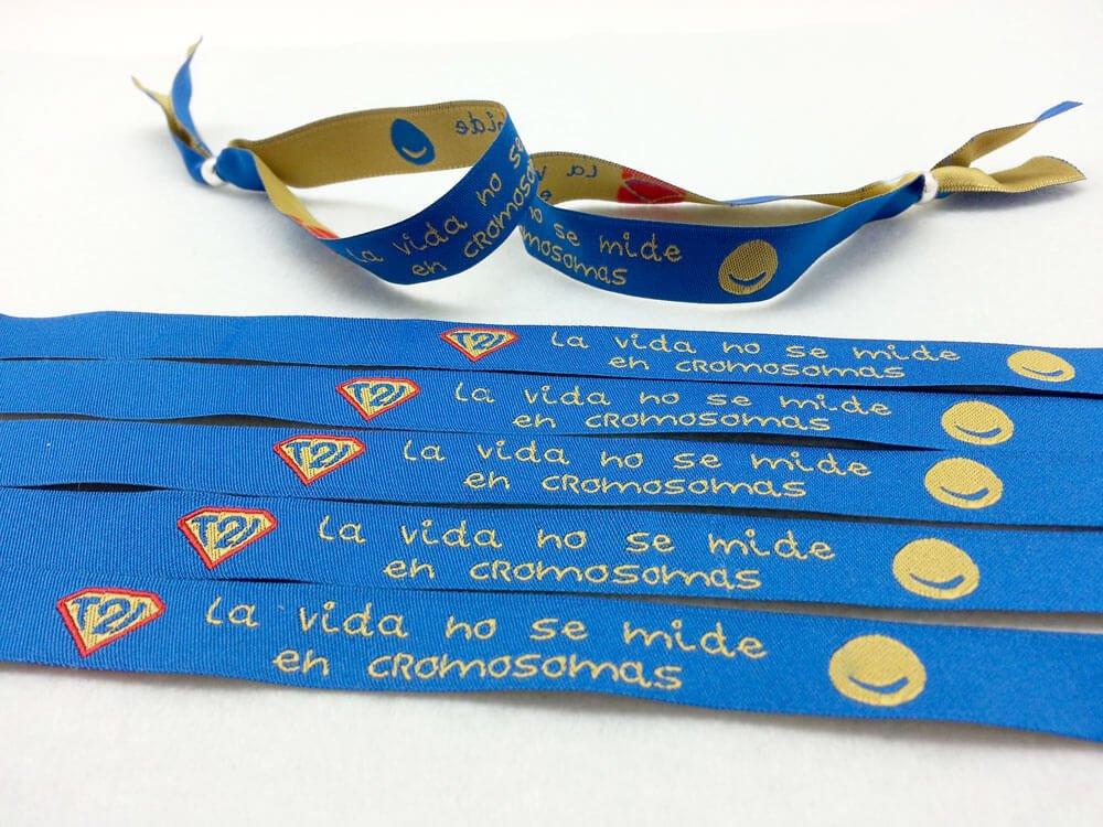pulseras-de-tela-con-frases-LA-VIDA-NO-SE-MIDE-EN-CROMOSOMAS