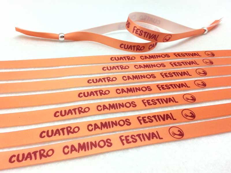 pulseras-naranjas-pulseras-de-tela-personalizadas-pulseras-sublimación-Cuatro-Caminos-Festival