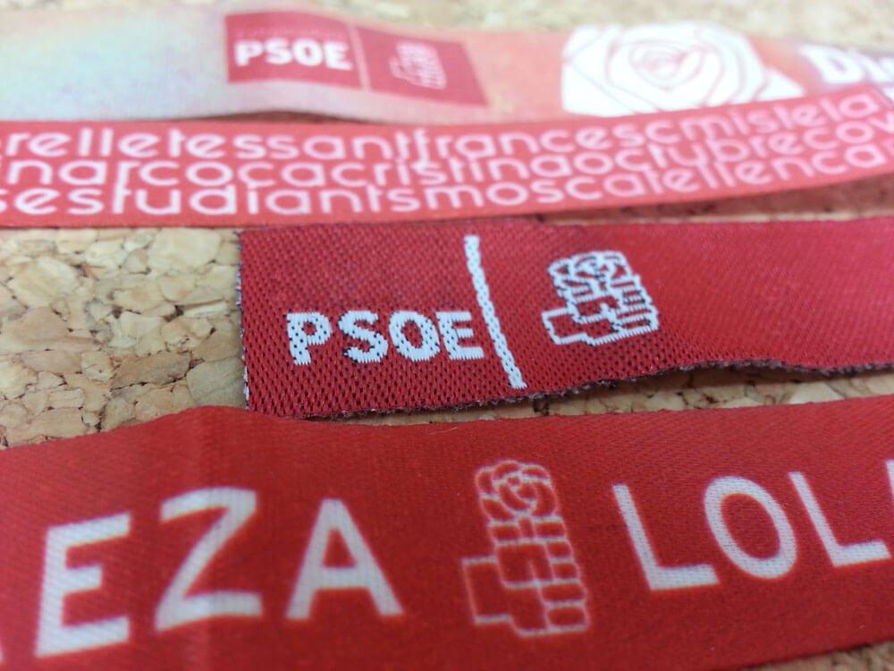 pulseras-de-tela-personalizadas-para-elecciones-de-partidos-politicos-PSOE-pulseradetela-es
