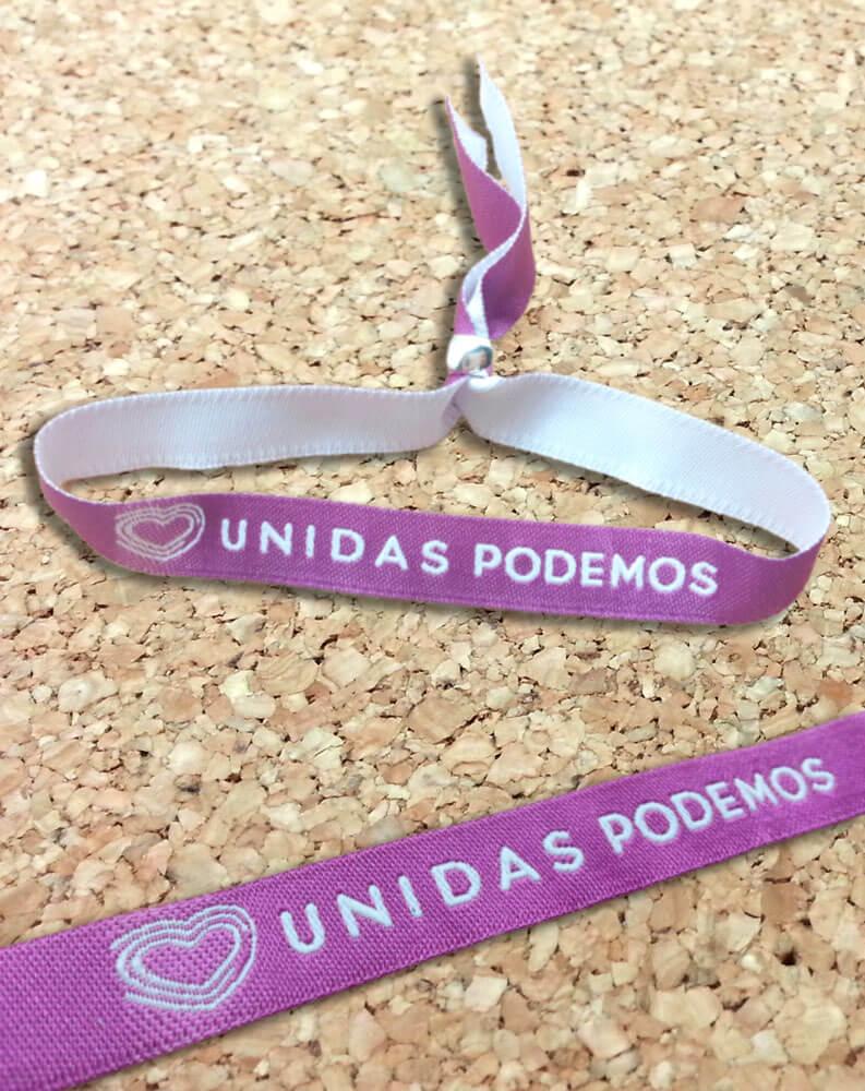 pulseras-de-tela-personalizadas-para-elecciones-de-partidos-politicos-UNIDAS-PODEMOS-pulseradetela-es