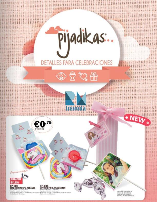 CATÁLOGOS artículos personalizados Detalles Para Celebraciones-Pijadikas-RM Ingenia
