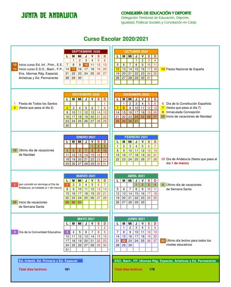 calendario-escolar-2020-2021-cadiz-junta-de-andalucia-pulseras-personalizadas