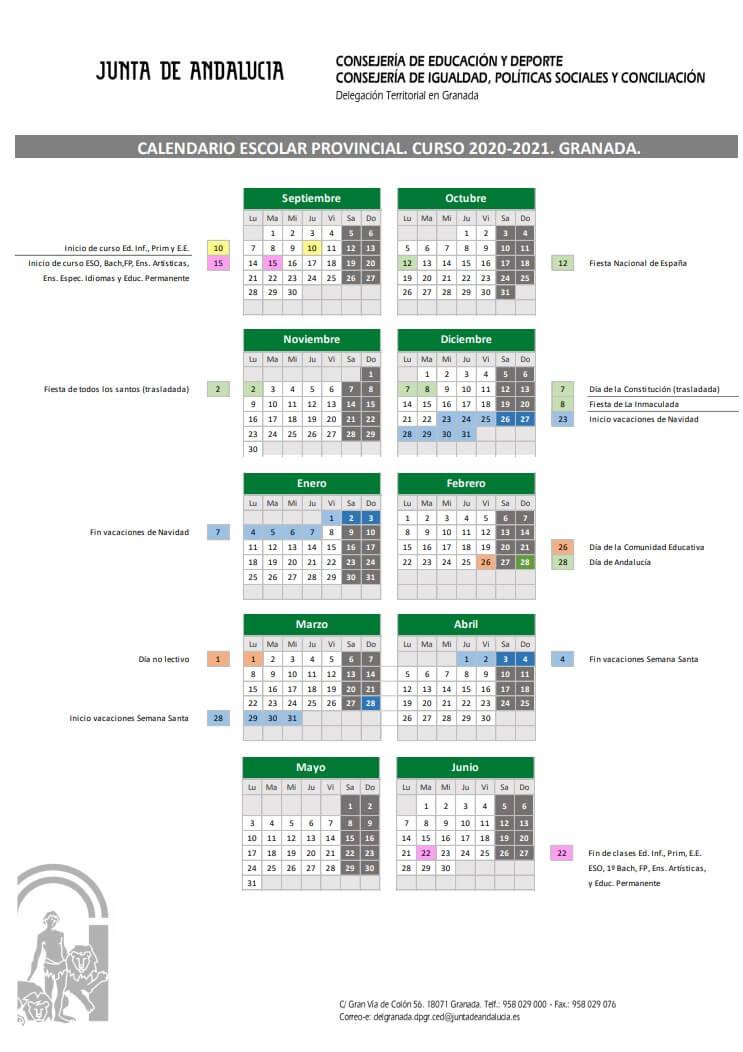 calendario-escolar-2020-2021-granada-junta-de-andalucia-pulseras-personalizadas