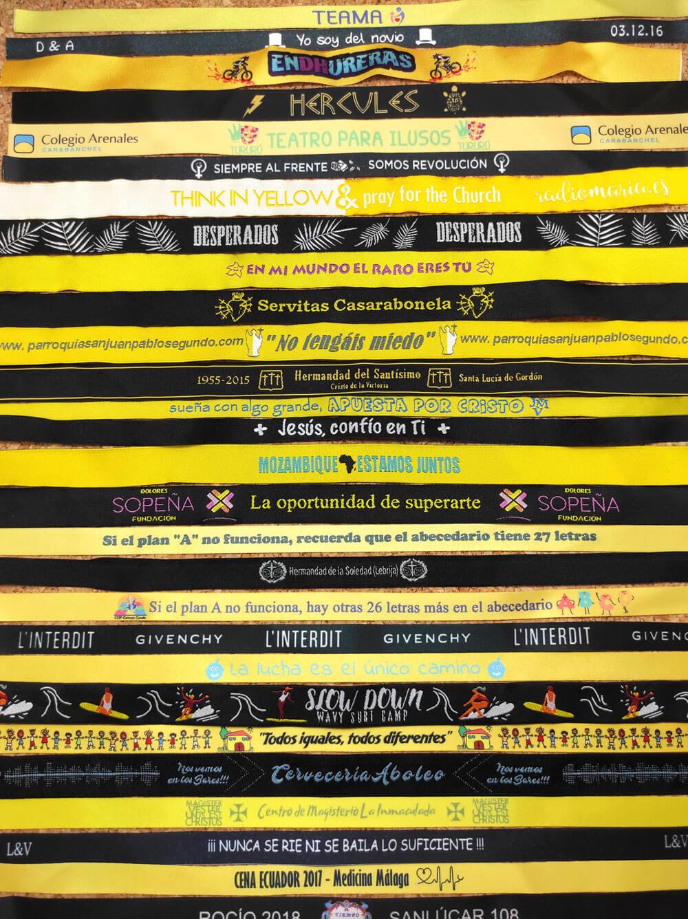 pulseras-de-tela-personalizadas-amarillo-y-negro-me-alegro-dia-de-las-abejas-RM-Ingenia