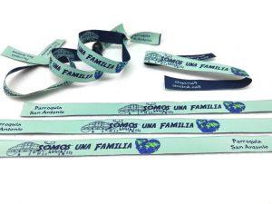 pulseras-de-tela-personalizadas-baratas-pulseras-tejidas-bordadas-Parroquia-San-Antonio-RM-Ingenia