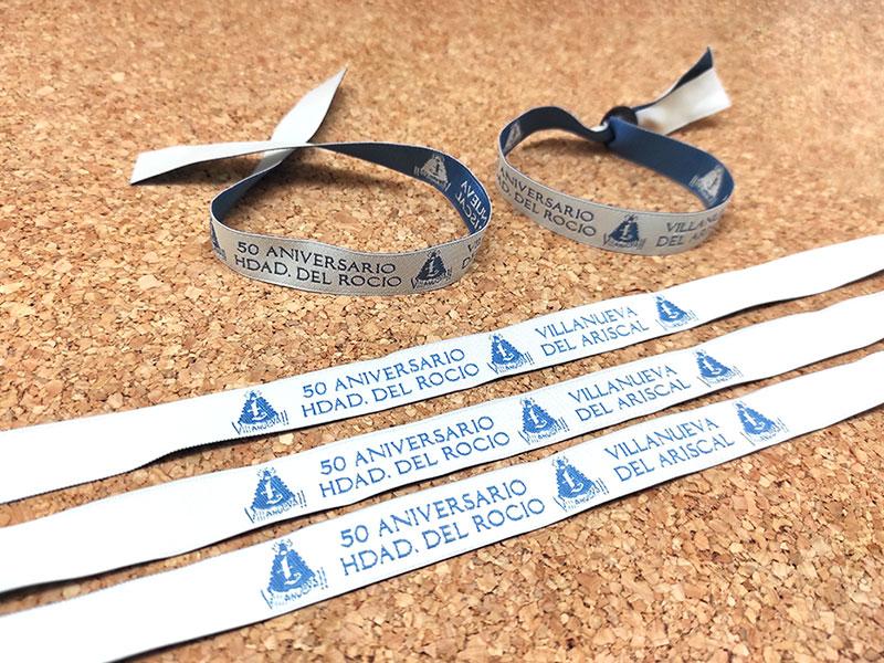 pulseras-de-tela-personalizadas-tejidas-50-aniversario-hdad-del-rocio-pulseradetela_es-