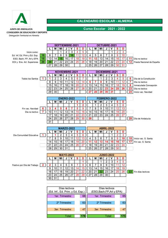 calendario-escolar-2021-2022-Almeria-Andalucía-pulseras-de-tela-personalizadas-pulseradetela_es
