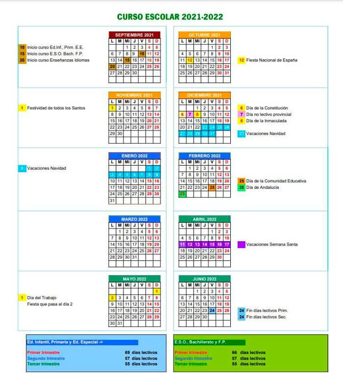 calendario-escolar-2021-2022-Cordoba-Andalucía-pulseras-de-tela-personalizadas-pulseradetela_es