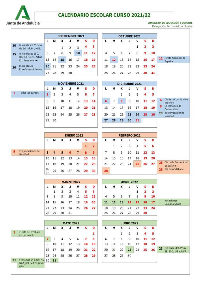 calendario-escolar-2021-2022-Huelva-Andalucía-pulseras-de-tela-personalizadas-pulseradetela_es